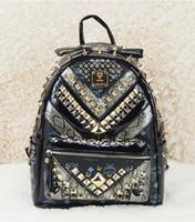 mcm backpack - DH SR M054B HOT MCM Backpack Unisex Rivets School bags backpacks New Brand Mcm bags medium Backpacks Handbags designers Mcm stark