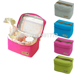 Wholesale Outdoors Single Person Solid Thermal AL Foil and D Polyester Waterproof Mini Picnic Bag cm Colors