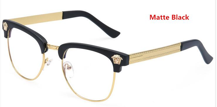 ee5a1b1367ba5f Gros-demi-trame Marque Lunettes Homme Nouveau 2015 Lunettes Métal femmes  optique