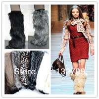 fluffy boot - Fashion Fluffy Furry Women Leg Warmer Boots Shoes Cover Cuff Topper Faux Fur Muffs cm