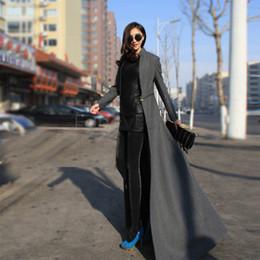 Atacado-Venda quente! 2015 de inverno casaco de lã Mulheres fresco Estilo De Corpo Inteiro longo casaco de lã mistura Trench M-XXL 30