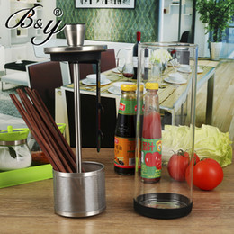 Wholesale B amp amp Y Japanese creations stainless steel chopstick chopsticks cage binoculars glass frame lid draining tub and kitchen