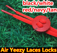 Wholesale Air Yeezy Leather Stopper pair Air Yeezy Laces Lock Black White Navy Tan Red Sneaker Lace Stopper DHL