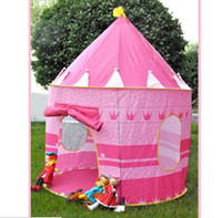 Cheap Wholesale-New Arrival Kids Play Game House Tent Baby Educational Toys Outdoor Fun & Sports Tent for Single Kid Pink and Blue Color