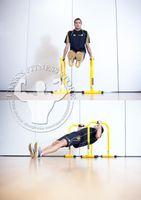 Wholesale FEDEX Lebert Equalizer Training Dips Chin up Push Up Bar Functional Equipment ABS Core Training Machine