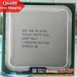 Al por mayor-para Intel Core 2 Quad Q6600 procesador CPU (2.4Ghz / 8M / 1066GHz) Socket 775 CPU de escritorio el envío libre