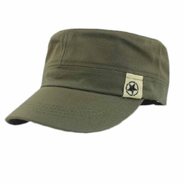 Wholesale SPLENDID Fashion Unisex Flat Roof Military Hat Cadet Patrol Bush Hat Cadet Patrol Bush Hat