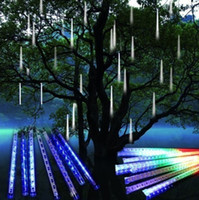 best snow tube - cm set Best Selling Retail LED Christmas Xmas String Light Decoration Snow Fall Tube Led Raining Meteor Tube Light