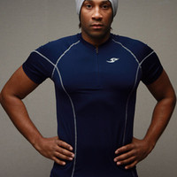 athletic clothing designer - HOT New Male Designer Brand Running Quick Dry Fit Athletic Clothing Sportswear Training Suit Jogging Motocross t shirt men