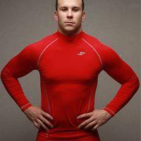 athletic clothing designer - HOT New Men Designer Brand Running Dry Fit Athletic Clothing Sportswear Training Suit Jogging Motocross Compression T shirt