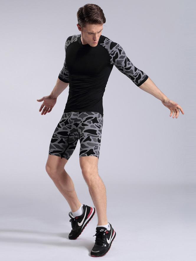 Online Cheap Wholesale Fashion Camouflage Running Gear Men Running ...