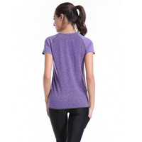 Wholesale Women runnig t shirt quick dry yoga t shirt sport short shirt
