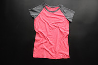 Wholesale Professional Fitness Women Sport Running T shirt Quick Dry Breathable Short Sleeve Training Exercises Clothes Sportwear