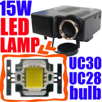Wholesale W LED Bulb for Popular Mini Projector UC30 UC28 GM40 Proyector Lamp Wick Burner Replacement Enhance Brightness