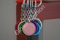 Wholesale Mix Order Flattened Both Side Colored Bottle Caps Bottlecap With Hole Key Chain For DIY Jewelry Crafts