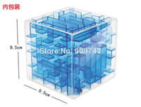 activity cube toy - Three dimensional magic cube maze labyrinth rolling ball balance game activity toy unique new design