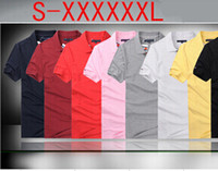 Wholesale hot size S XXXXXXL outdoor sport lapel fashion leisure men s clothing with short sleeves polo shirt Classic Tees
