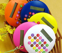 Wholesale Lovely color Hamburg Calculator Color Candy Calculator Round Calculator Small Mini Calculator