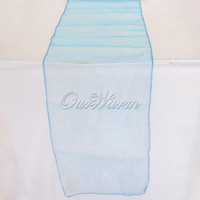 Wholesale Many Colors quot x108 quot Organza Table Runner Wedding Party Event Decoration Products Supply