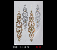arabic products - New Fashion Indian Style Designs Temporary Metal products Tattoo Flash Tattoo Arabic henna tattoos