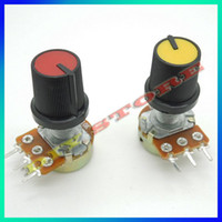 Wholesale B10K with potentiometer knobs K Ohm Liner Taper Potentiometer Pot Rotary