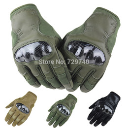 Wholesale Tactical Carbon Fiber Hard Knuckle Military Army Paintball Airsoft Combat Motorcycle Assault Shooting Police Full Finger Gloves