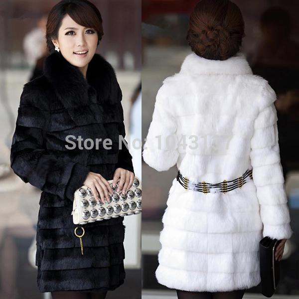 Wholesale-Brand NewWinter Warm Womens Fur Coat Belt Long Jacket ...