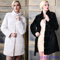 Wholesale Leather Jackets For Winter - Wholesale- New Winter Women Parka Fur Coat Real Mink Fur Coats For Women Full Leather Jacket Women Fox Fur Coat SV011337