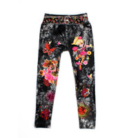 beautiful cowboys - Cartoon Jeans Pattern Leggings For Beautiful Girl Children Trousers Cowboy Style Digital Printing Kids Cotton Pants Baby