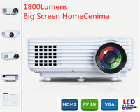 Wholesale Lumens Full hd beamer p HDMI USB Portable LED TV Projector home video DVD D Projector proyector Clear Images