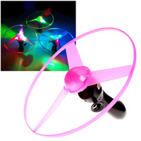 boomerang - Summner style Outdoor Toy Frisbees Boomerangs Flying Dic Saucer Helicopter Spin Disk LED Light Color Random