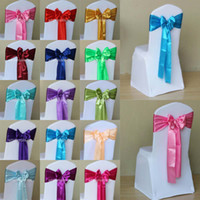 Wholesale Stain Chair Bow Banquet Chair Sashes Wedding Chair Covers Decoration