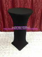 bar table chair - Extra Larger Black Lycra dry bar cover Cocktail table cover amp cloth for wedding event amp party decoration