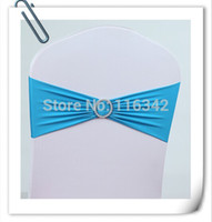 Wholesale Chair Cover Bands Lycra Spandex With Diamond bow Chair Sash Bow Wedding Party Decor