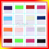 Wholesale Multi color Option Lycra Chair Bands amp Sash Spandex Stretch Cover for Wedding Party Hotel Banquet Chair Party