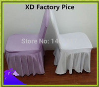 accordion cover - Polyester lycra spandex stretch chair cover with accordion pleated skirts for banquet chair wedding chair