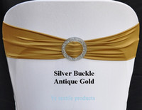 antique chairs sale - Hot Sale Antique Gold Spandex Bands Lycra Band Expand Bands With Silver Buckle For Wedding amp Banquet