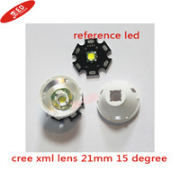 lens for cree led - Cree W xml Lens With Reflector Holder Stand For Cree XML XM L2 T5 T6 U2 Led Flashlight Torch degrees