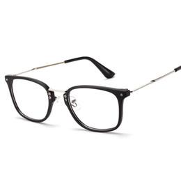 Or gros cadres lunettes en Ligne-Gros-Nouvelle-coréen rivets yeux lunettes optique cadres marque de femme métal lunettes rectangle d'or de la myopie des hommes UV400 mat noir vert