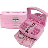 beauty jewelry display - Jewelry Storage Boxes Drawer Travel Train Case Beauty Bag Boxes Necklace Jewelry Display Comestic Professional Jewelry Cases Box