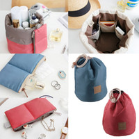 antique handbag - New Travel Makeup Bag Cosmetic Pouch Handbag Toiletry Antique Case Cylindrical Protable