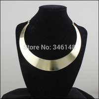 big neckless - SN051 Fashion series alloy women statement necklace big silver short neckless choker gold necklace