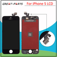 Cheap Wholesale-100% Brand New for iPhone 5 5G LCD Display touch screen with digitizer replacement assembly parts free Shipping