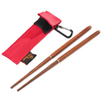 backpacking china - 2016 Hot New Camping Backpacking Red Sandalwood Foldable Chopsticks High Quality Made in China For Sale