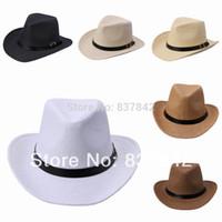 Wholesale Men Women Unisex Casual Summer Beach Panama Staw Sun Hat Cap