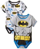 america bodysuit - 30pcs new color kid batman Captain America jumpsuits Onesies superhero clothing baby superhero romper christmas bodysuit Romper Suit