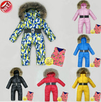 baby ski clothing - new arrive baby winter ski suit white down down jacket baby winter clothes bodysuits snowsuit infant baby wear