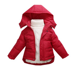 Wholesale Color Select New Fashion High Quality Baby Boy Girls Hooded Outwears Thicken Coats Kids Children Winter Warm Soft Downs C036A E