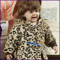 baby outer jacket - LOONGBOB Children baby boy girl autumn winter jacket leopard cotton padded outer coat hoodie months A