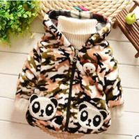 babi fashion - Sale Regular Worsted Character Unisex New Winter Babi Faux Outerwear With Panda Fashion Coat With Hooded
